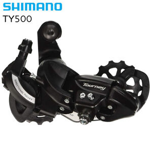 Shimano Tourney RD-TY500 6/7 /8 Speed MTB Bicycle Rear Derailleur-Long Cage New