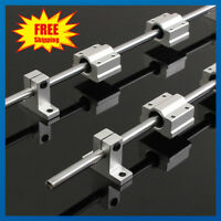 2X Linear Rails 200-400mm Shaft Rod + 4X SCS8UU Bearing Block For 3D Printer CNC