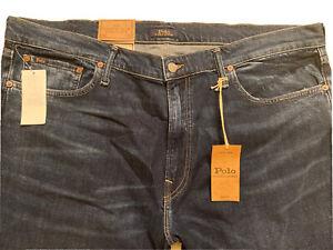 NWT Polo Ralph Lauren Varick Slim Straight Soft Touch Stretch Jeans Sz 42x32