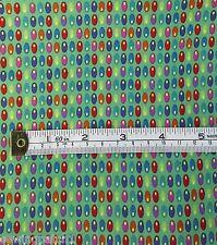 Retro Fabric yellow red blue green fat quarters 100% cotton MCS 13-44