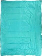 Halfords Double Envelope One Season Camping Outdoor Sleeping Bag 2 Person Green