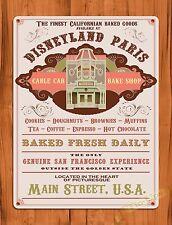 """TIN-UPS Tin Sign """"Disneyland Paris Bakery"""" Main Street Ride Art Poster"""