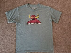 MENS SIZE LARGE TOY MACHINE MONSTER HEATHER GREY TSHIRT