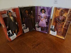 Black History Barbie Inspiring Women Dolls (Maya,Ella,Rosa,Katherine) Bundle