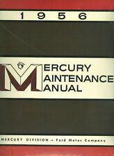 1956   MERCURY  SHOP MANUAL
