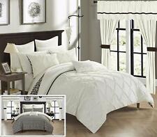 Chic Home 20Pc Jacksonville Bedroom Set Comforter Sheets Curtains Queen Beige