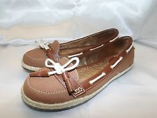 NEW SEBAGO PRISCILLA BALLET Whiskey/Tan brown Slip On Canvas Shoes Womens 7.5 M