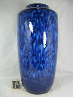 "Beautiful blue  ""Lava ""glazed 70´s Scheurich Keramik pottery Vase 517 - 45"