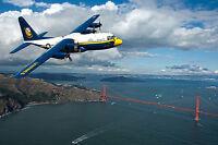 Blue Angels-Fat Albert-C-130 Hercules Flies over Golden Gate Bridge