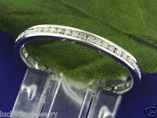 0.55 ct 14k White Gold Eternity Diamond Ring Anniversary  channel set size 6 1/2
