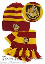 HARRY POTTER HOGWARTS HAT & SCARF SET w/ CREST Gryffindor  *LICENSED* NEW USA