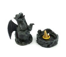 Small Black Dragon Cone Incense Burner Holder Ashcatcher