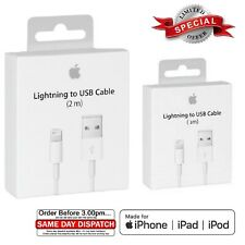 Apple iPhone Lightning To USB Charger Lead Cable 1M 2M for XR X 8 7 6 iPad UK