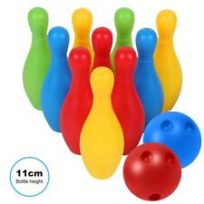 10 Pin Skittle 2 Balls Bowling Toy Outdoor Indoor Party Game Children Kids  MCTS
