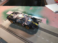 NOS Vintage Fujimi Ford Mark II Slot Car w/ Revell Chassis; Working Order