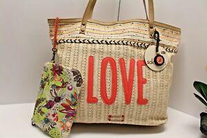 SAKROOTS EXTRA LARGE Tote Shoulder Bag cosmetic bag NATURAL LOVE Zen Garden NWT
