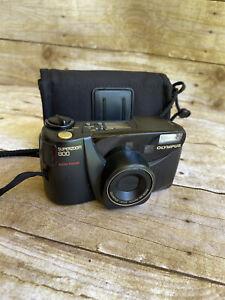 Olympus SuperZoom 800 38-80mm 35mm Auto Focus Film Camera Tested  Works