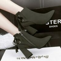 Women's  Nightclubs Pointed Bow Suede  Boots Slim Sexy Martin Boots Nude Boots