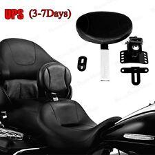 Adjustable Plug-In Driver Rider Backrest Kits For Harley Touring FLHT FLTR 97-17