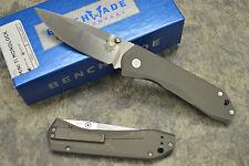 Benchmade 765 Mini Titanium Folding Knife w/ M390 Blade & Titanium Clip