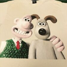 Vtg 90s Wallace And Gromit Big Face Graphic Movie Tv Promo Rare Vintage Shirt M