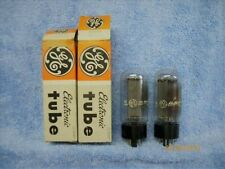 5U4GB 5AS4  LOT OF 2  MATCHING NOS GE SHORT BOTTLE TUBES, TV-7 D/U TESTED #A-14