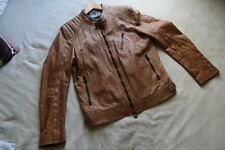 "BELSTAFF Brown Leather Jacket - Size 44"" - Worn Once on Set  - RRP £1350"