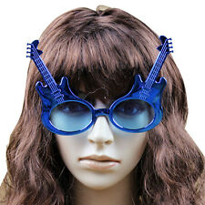 Guitar shaped glasses,fun party glasses,novelty glasses,blue color