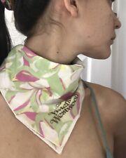 Vivienne Westwood Small Square Scarf Neck Hair Bag Tie Band BOUDOIR Sin Garden