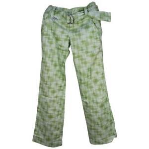 Oakley Tournament Pant Womens Size 12 US 16 AUS Ladies Mint Green Print Pants