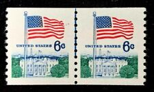 US Stamps SC#1388A 6c Flage Coil line pair