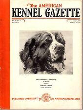 Vintage American Kennel Gazette July 1940 Saint Bernard Cover