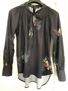 Ladies French Connection Shirt Blouse Top Size 14 Pussy Bow