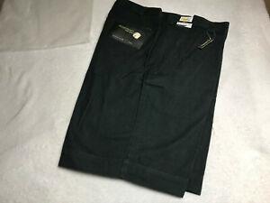 IZOD Golf Shorts Men's Size 34 Glove & Tee Pockets Charcoal 100% Cotton NEW