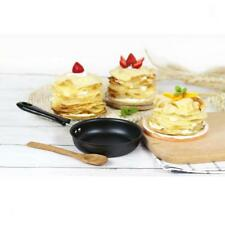 1 Set 12cm Non Stick Black Iron Frying Pan Fry Skillet with Wooden Scraper