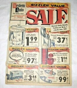 Vintage 1965 WESTERN AUTO The Family Store Catalog Sizzler Value SALE