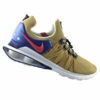 New Mens Nike Shox Gravity Running Shoes Olympics Gold Red Blue AR1999-700
