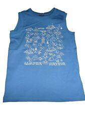 Esprit tolles Top / T-Shirt Gr. 116 / 122 blau mit Druckmotiven !!