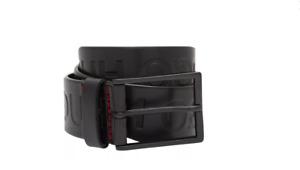 Hugo Boss Men's Giaci Genuine Leather Belt-BLACK (Waist Size 30in-40in)