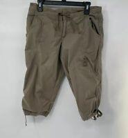 Nike Women's Cargo Cropped  Pants Brown Size M Cotton Blend