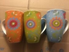 "Maxwell & Williams ""Flower Power"" Set of 3 Porcelain Mugs"