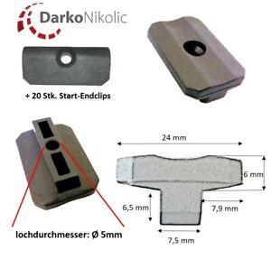 100-2000 Stk. WPC Clips 7,5 mm + 20 Start-Endclips WPC Clips für Terrassendielen