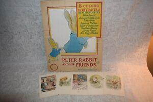 Beatrix Potter & His Friends 8 Color Prints/Portraits Vintage Great Britain 1960