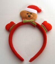 New Teddy Bear in tessuto rosso Aliceband COSTUME NATALE FESTE PARTY
