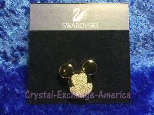 Swarovski Mickey Mouse Head Brooch Pin 872509.  MIB