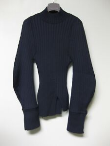 Jacquemus Navy Ribbed Knit Sweater 34 La Maille Pablo