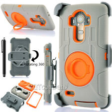 For LG G3 G4 G5 Defender Black Case Cover w/ Belt Clip Holster w/ Accessories