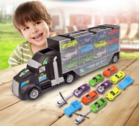 Toy Car Carrier Transport Trucks Set Play Vehicle Gift for Kids Boys Toddlers US