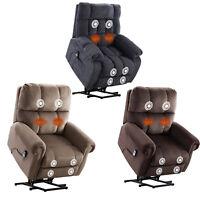 Oversize Power Lift Massage Chair Recliner w/ Heat Vibration for Elderly Bedroom