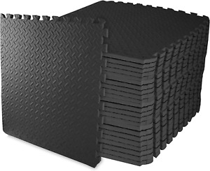 Balancefrom Puzzle Exercise Mat With Eva Foam Interlocking Tiles For Mma, Exerci